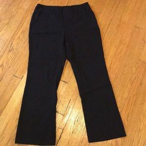 Bootcut pants. Very comfortable!